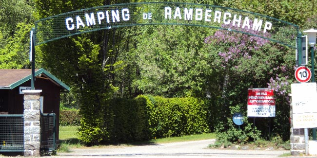 Entrée camping de Ramberchanp